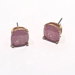 Kate Spade pink gem stud earrings